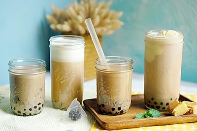 阿氏奶茶铺子:珍珠+野米+仙草+奶盖【曼食慢语】
