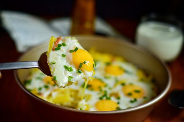土豆培根鸡蛋派