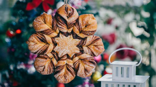 ins网红圣诞红糖肉桂全麦雪花面包(一发)的做法