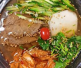 #美食视频挑战赛# 清爽的朝鲜冷面的做法