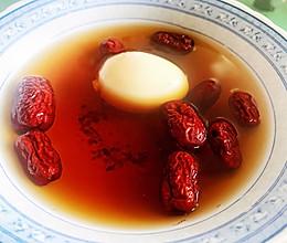 益母草红枣土鸡蛋汤的做法