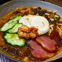 韩式辣白菜面条