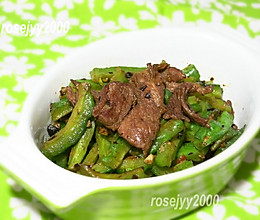 #我们约饭吧#蒜头豆豉牛肉苦瓜的做法