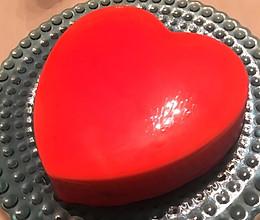 红心镜面蛋糕-结婚6周年的做法