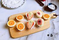 """#美食说出""""新年好""""#自制Q弹软糯的水果糯米糍的做法"""