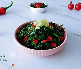 醋酱油蒜柿苋菜的做法