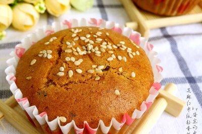 芝麻红枣纸杯蛋糕#豆果5周年#