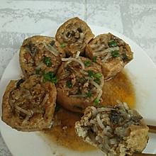 香菇鸡肉酿豆腐