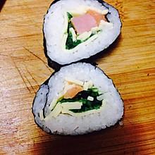 简易芝士三文鱼海藻寿司