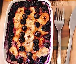 肉桂香蕉蓝莓烤燕麦的做法