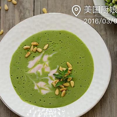 西餐-豌豆菠菜汤