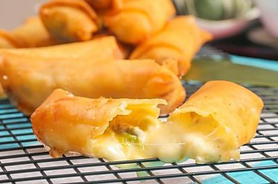 大白菜芝士春卷#年味十足的中式面点#
