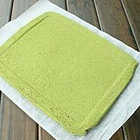 抹茶蛋糕卷 9寸烤盘的量 高筋面粉版 此方已减糖的做法图解10