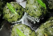 清明菜粑粑 无油版 健康版的做法