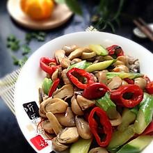 素食之——草菇滑炒青瓜