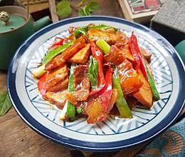 香干小炒肉,不用一滴油,咸鲜滑嫩,超下饭#夏日撩人滋味#的做法