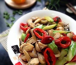 素食之——草菇滑炒青瓜的做法