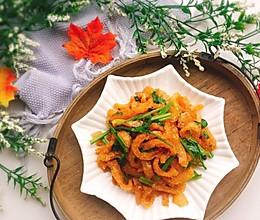 #精品菜谱挑战赛#美味的芹菜炒炸猪皮的做法