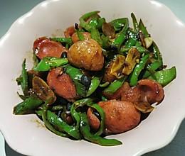 青椒炒火腿的做法