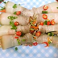 蒜泥白肉卷—去油腻,绝对成卷的做法的做法图解6