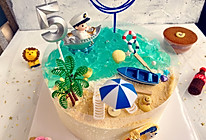 海洋酸奶慕斯蛋糕(巧克力夹心)的做法