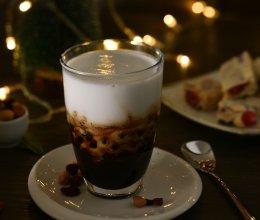 #安佳万圣烘焙奇妙夜# 黑糖脏脏撞奶的做法