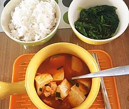 #禦寒首選#韓式鱈魚豆腐湯的做法