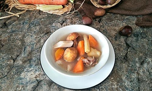 板栗山药汤的做法