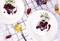 #炎夏消暑就吃「它」#蓝莓山药泥的做法