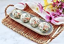 #我们约饭吧#三色藜麦青菜饭团的做法