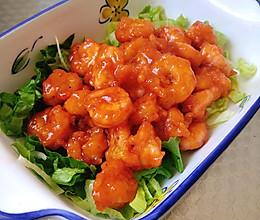 酸甜茄汁虾球的做法