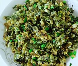 炒莴苣叶蒸菜的做法