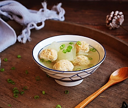 #做道懒人菜,轻松享假期# 鸡肉丸子冬瓜汤的做法
