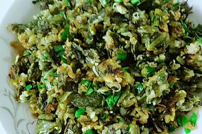 炒莴苣叶蒸菜