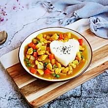 #晒出你的团圆大餐# 咖喱鸡丁土豆饭