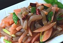 【酸萝卜炒魔芋】——闷热天的解馋开胃菜的做法