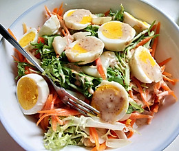 带灵魂的鸡蛋蔬菜沙拉的做法