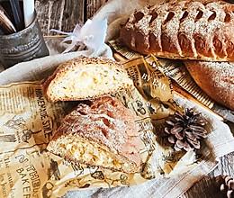 粗麦肉松奶酪软欧 全麦面包(波兰种)#中粮我买,我是大美人#的做法