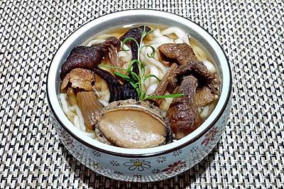 菌菇鲍鱼面