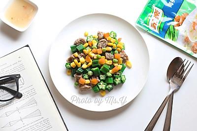 玉米牛肉沙拉