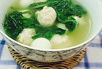 豆苗鸡肉丸子汤的做法