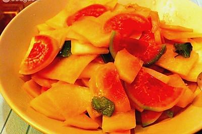 减肥菜-清炒萝卜片