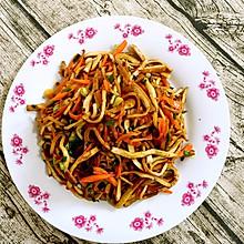 胡萝卜蚝油炒豆干