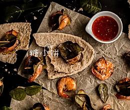 异域风情【青柠叶包烤甜辣虾】的做法