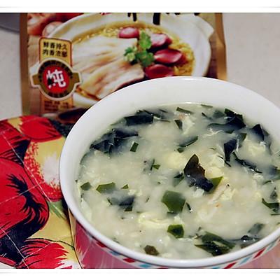 【大喜大牛肉粉试用之】裙带菜疙瘩汤