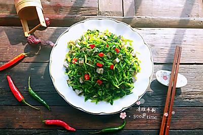 香菜拌臭豆腐