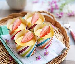 【芝士杯子蛋糕】嫩烤更细腻!香浓大满足~的做法