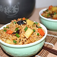 #苏泊尔球釜智能电饭煲#香菇土豆肉丁焖饭的做法图解14