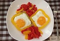 彩椒圈煎蛋的做法