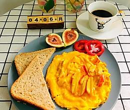 #换着花样吃早餐#蟹柳滑蛋的做法